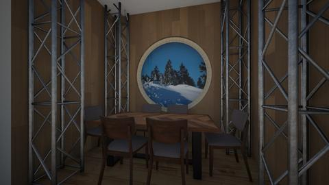 Wooden Cabin Dining Room - Dining room - by Potato_Chips_Are_Savvy