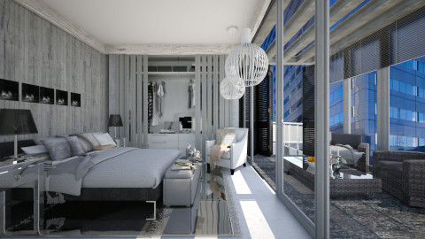 wooden house - Eclectic - Bedroom  - by deleted_1516537055_brownlila01