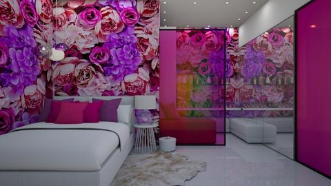 Pink and Purple  - Bedroom  - by ElenaSpr