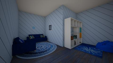 blue living room - Living room  - by AddiC