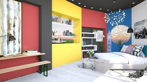 bauhaus study room - Kids room  - by nihalruttala