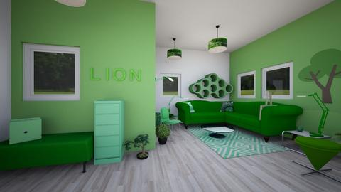 Green - Glamour - Living room  - by Isaacarchitect