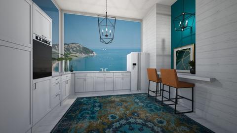 Modern Emerald Kitchen - Modern - Kitchen  - by KylaTH