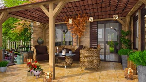 Summer Wooden Porch - by ZsuzsannaCs