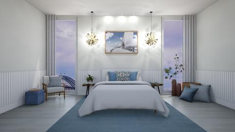 modern city view - Modern - Bedroom  - by erjhsfgwdhkfgwalkf