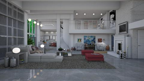 open plan  - Modern - Living room  - by Ida Dzanovic