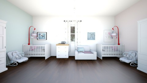 twins bedroom new born - Modern - Kids room  - by newyork4everloved