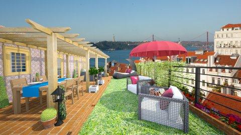 Lisbon Roof Top - Classic - Garden  - by Joao M Palla