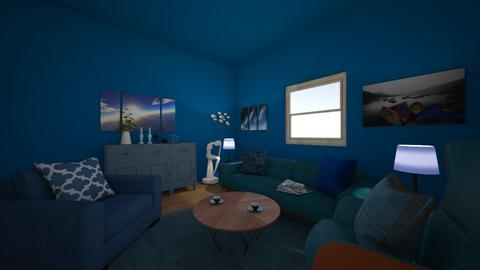 Blue living room - Modern - Living room  - by 0194718
