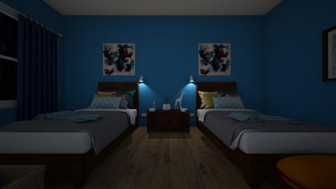 boys shared bedroom - Bedroom  - by 00l0ps