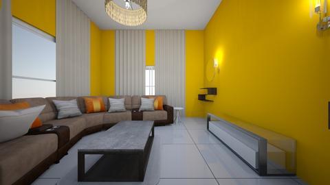 kitwe house Dalitso - Living room  - by Seyram Uwimana