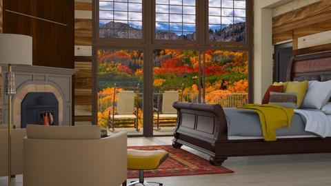 autumn mountains - Bedroom  - by RaeCam