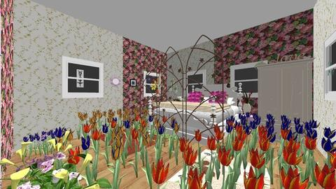flower power - Country - Bedroom  - by moderngirl12