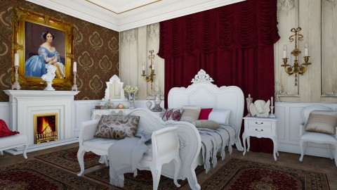 Chateau Bedroom 1 - Glamour - Bedroom  - by DeborahArmelin