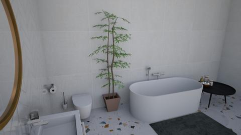 Modern bathroom - Modern - Bathroom  - by chocolatelover08