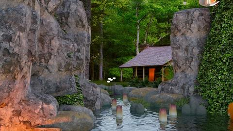 Forest House Pond - Modern - Garden  - by MB2006