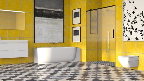 Yellow Bath Tiles - Eclectic - Bathroom  - by millerfam