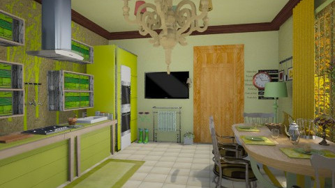 autmn kitchen - Classic - Kitchen  - by lamzoi