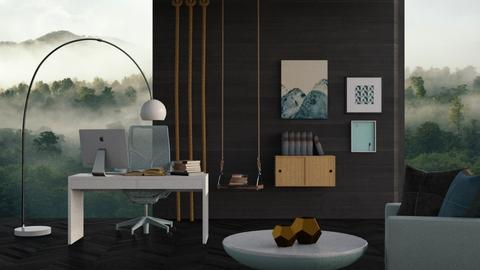 stormy office  - Modern - Office  - by RimaNina