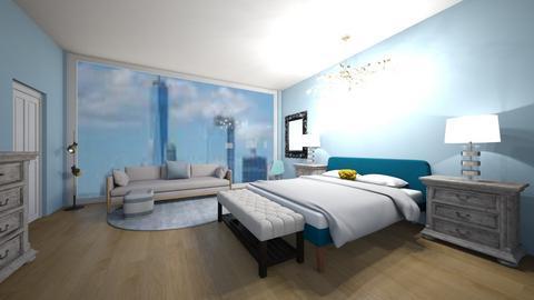 aqua blue - Bedroom  - by 29catsRcool