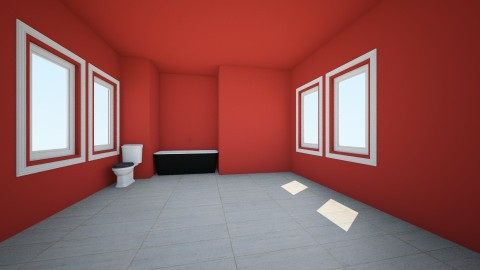 red - Bathroom - by libcabene
