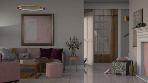 purple shades  - Living room  - by Mum Dali