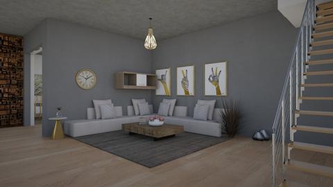 Gray - Living room  - by michaelneilldesigns