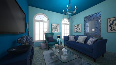 Monochrome room - Living room  - by kateray