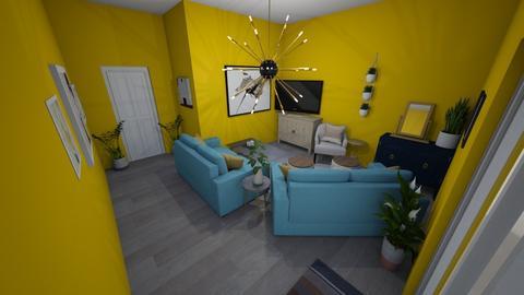 modern playful living  - Modern - Living room  - by mayaann_10