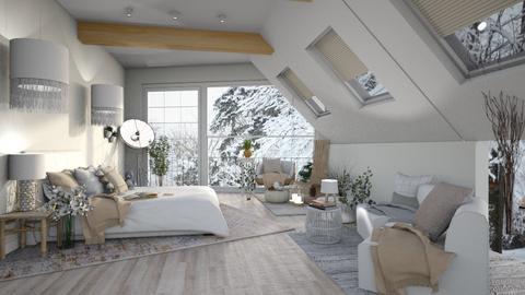 Barn rustic room - Rustic - Bedroom  - by ghhvghgvhvgvhvb