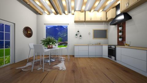Modern Farmhouse Kitchen - Modern - Kitchen  - by TortillaChip