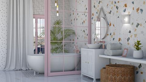Pink bathroom - Bathroom  - by Victoria_happy2021