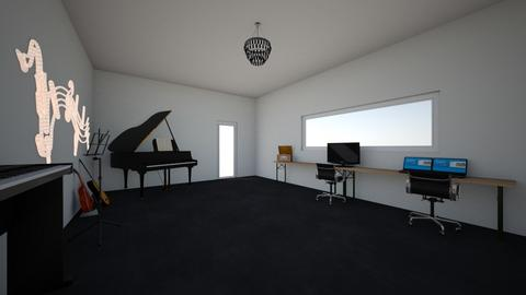 my music studio - by Amy Robberts