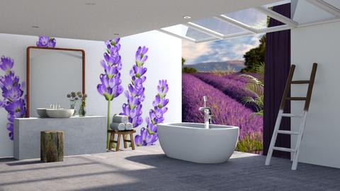 Lavender Bathroom - Modern - Bathroom  - by tolo13lolo