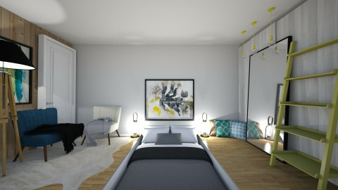 Low bed design - Bedroom - by AnnaMull