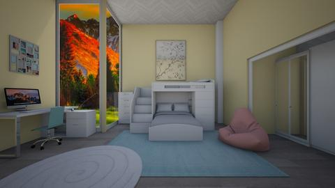 Twin bedroom - Kids room  - by jordynclark