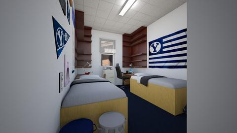 Yet Another Dorm Room - Bedroom  - by SammyJPili