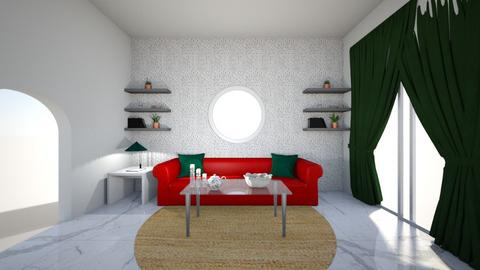 Interior Design Project 1 - Living room  - by QynnMackey
