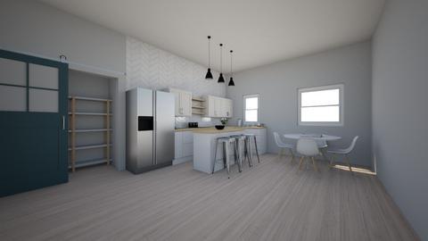 Small modern Kitchen - Modern - Kitchen  - by ryry0801