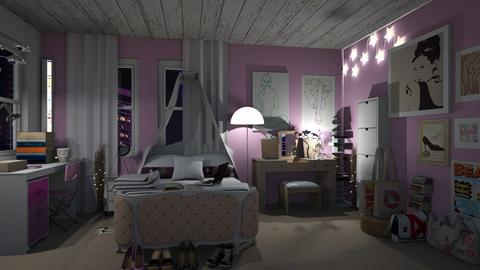 Teenage bedroom - by snezzza