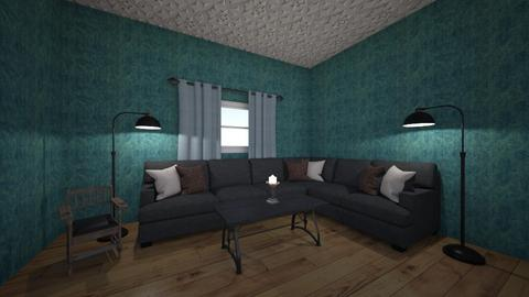 A blue corner - Living room  - by Its hamzah