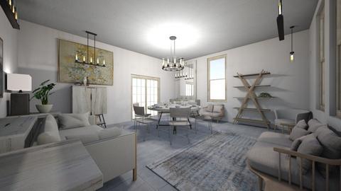 gray oak dining room - Modern - Dining room  - by PeculiarLeah