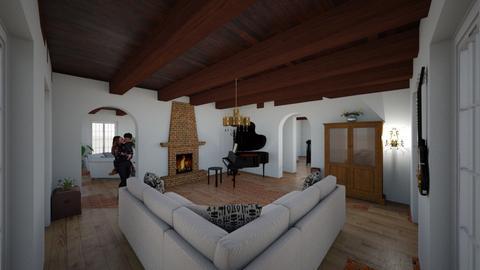 Four over Four Den - Living room  - by Bear3