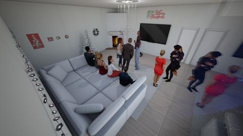 White Christmas Lounge - Living room - by Itsjustme1