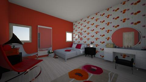 Poppy fashion bedroom - Glamour - Bedroom  - by Bangtanstan