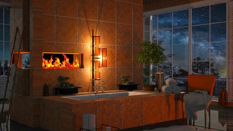 Opened fireplace - Bathroom  - by thatspeachy767