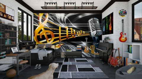 Design 61 Rock and Roll Teen - Kids room  - by Daisy320