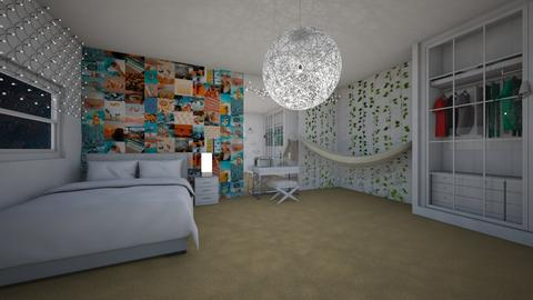 aethstetic bedroom - Bedroom  - by shahadthani