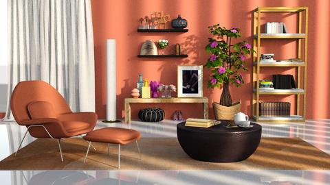 peach livingroom - Modern - Living room  - by RimaNina