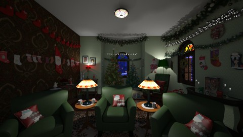 Christmas Cottage - Vintage - by  krc60